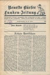 Neueste Bürser Funken-Zeitung