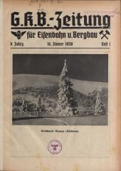 G. K. B.-Zeitung (Graz-Köflacher-Bergbaugesellschafts-Zeitung) für Eisenbahn und Bergbau