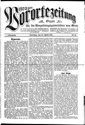 Grazer Vorortezeitung: Organ für die Umgebungsgemeinden von Graz