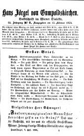 Hans Jörgel von Gumpoldskirchen: Volksschrift im Wiener Dialekte