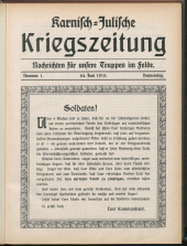 Karnisch-Julische Kriegszeitung