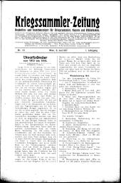 Kriegssammler-Zeitung: Neuheiten- und Tauschanzeiger für Kriegssammler, Museen und Bibliotheken.