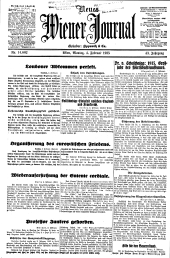 Neues Wiener Journal: unparteiisches Tagblatt