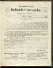 Österreichische Buchhändler-Correspondenz