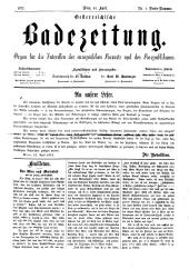 OEB - Oesterreichische Badezeitung : Organ für die Interessen der europäischen Kurorte und des Kurpublikums, 1872-04-14