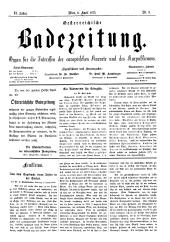 OEB - Oesterreichische Badezeitung : Organ für die Interessen der europäischen Kurorte und des Kurpublikums, 1873-04-06
