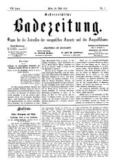 OEB - Oesterreichische Badezeitung : Organ für die Interessen der europäischen Kurorte und des Kurpublikums, 1878-05-26
