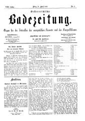 OEB - Oesterreichische Badezeitung : Organ für die Interessen der europäischen Kurorte und des Kurpublikums, 1879-04-27
