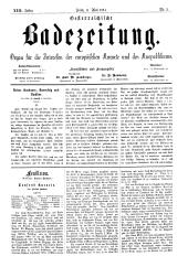 OEB - Oesterreichische Badezeitung : Organ für die Interessen der europäischen Kurorte und des Kurpublikums, 1884-05-11