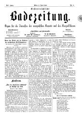 OEB - Oesterreichische Badezeitung : Organ für die Interessen der europäischen Kurorte und des Kurpublikums, 1886-06-06