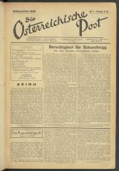 Die österreichische Post : = Courrier Autrichien