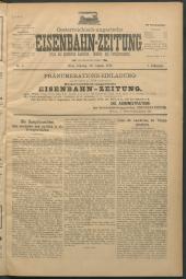 Oesterreichisch-ungarische Eisenbahn-Zeitung