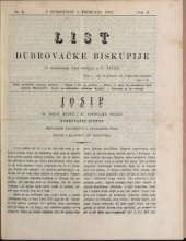 List dubrovacke biskupije (Ragusäer Diöcesanblatt)
