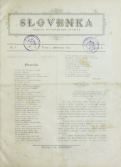 Slovenka (Die Slovenin. Das Organ der slovenischen Frauenwelt)