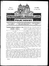 Streffleur vojenské listy. Polní noviny
