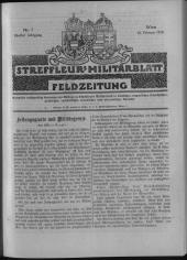 Streffleur's Militärblatt. Feldzeitung