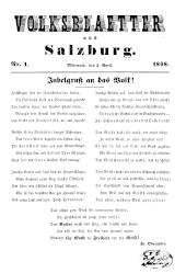 Volksblaetter aus Salzburg