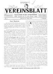 Vereinsblatt. Organ des Vereines der Heim- und Hausarbeiterinnen.