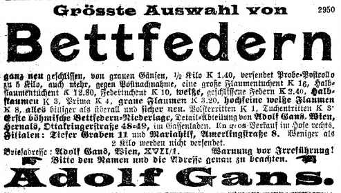 Bettfedern Gans